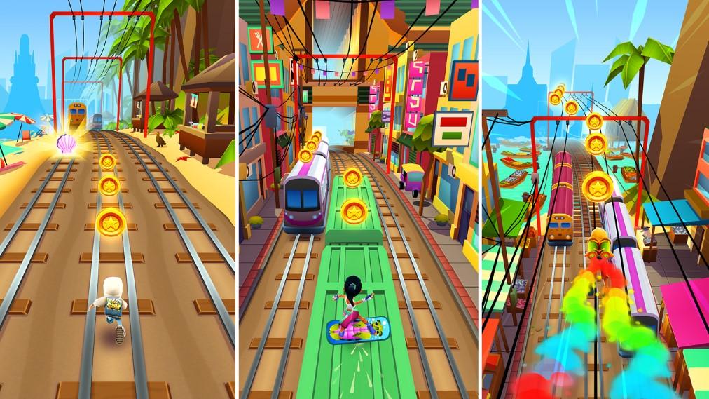 subway surfer game play screen