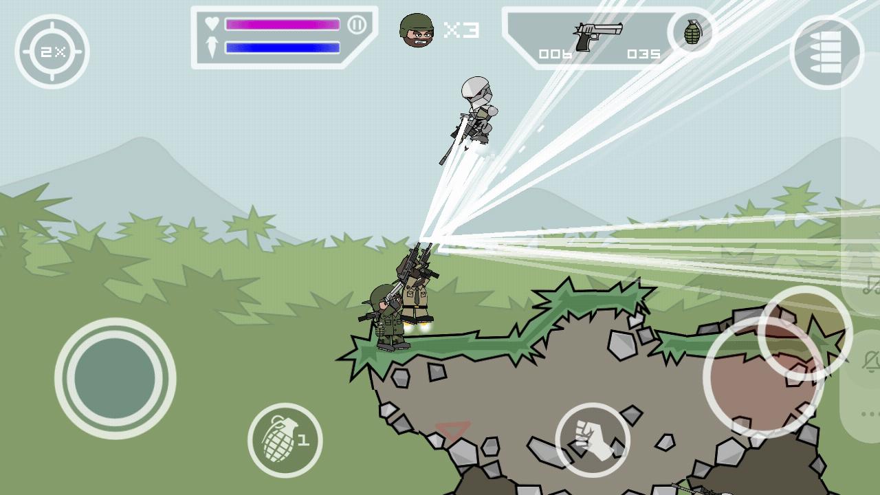 Mini Militia Gameplay