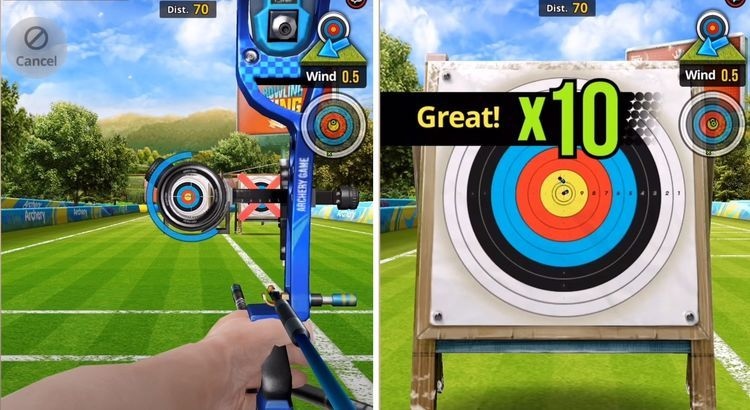How player sees the target in the Archery King Mod