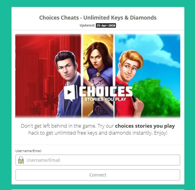 Choices Free Diamonds and Keys Hack