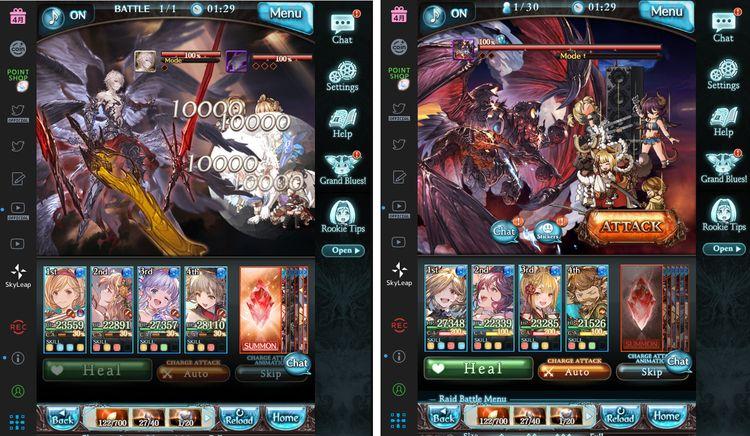Granblue fantasy gameplay screen