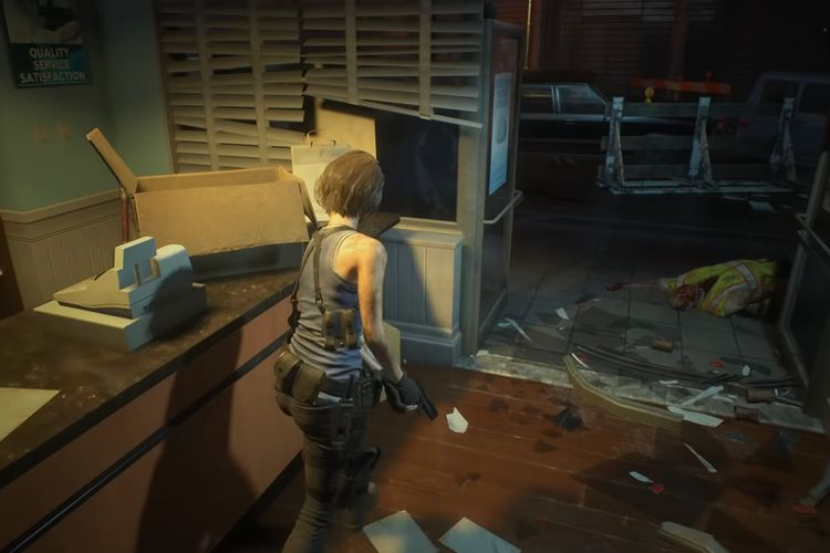 Resident Evil 3 Remake gameplay screen