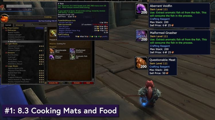 Cooking in WoW 8.3