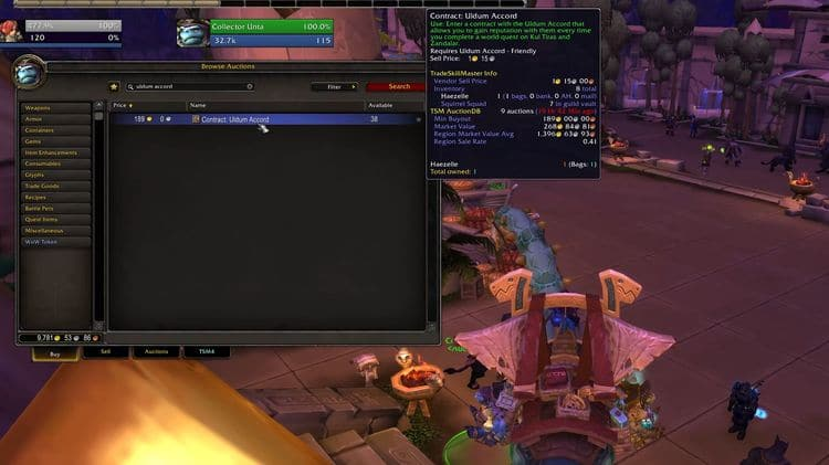 Reputation contracts in WoW 8.3
