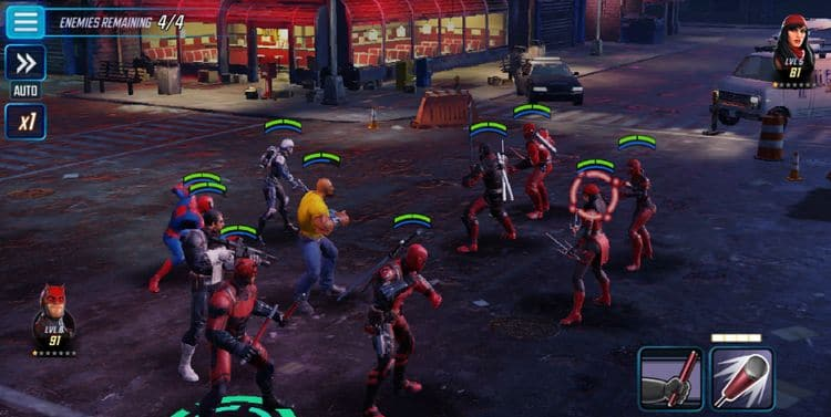 Marvel Strike Force gameplay